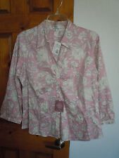 Van Heusen women's 3/4 sleeve button-down floral blouse size L - NWT $48
