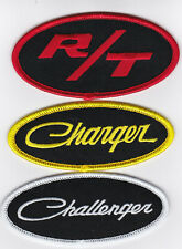 DODGE R/T CHARGER CHALLENGER SEW/IRON ON PATCH BADGE EMBLEM EMBROIDERED HEMI