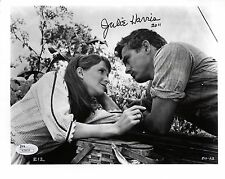 JULIE HARRIS HAND SIGNED 8x10 PHOTO        GREAT POSE WITH JAMES DEAN        JSA