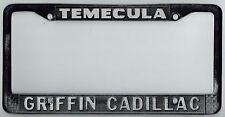 RARE Temecula California Griffin Cadillac Vintage Dealer License Plate Frame