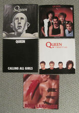 "LOT of 5 QUEEN 7"" US Picture Sleeves ONLY (No 45s included)"