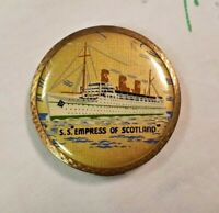 Vintage 1950's Stratton Compact S.S Empress of Scotland VGC
