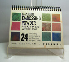 Ranger's Embossing Powder Recipes & Project Ideas Book RARE Out of Print Book