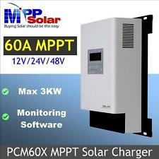 Max 60A MPPT solar charge controller regulator 12v 24v 48v max PV power 3200w