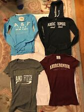 4 Pre-owned Junior Girls A & F:Zip-Up Hoodie,Long&Short Sleeve Shirts Size Small