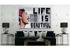 Banksy - Life is Beautiful Graffiti Canvas Wall Art Print