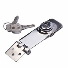 "Stainless Steel Key Locking Hasp 3"" 1-1/8"" Twist Knob"