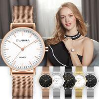 Fashion Women Girls Mesh Band Stainless Steel Analog Quartz Wrist Watch Bracelet