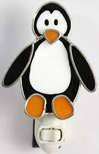 Penguin  Stained Glass Night Light