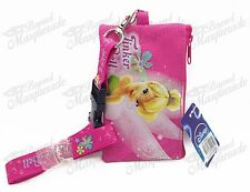 Disney Tinkerbell ID Holder Lanyards Detachable Coin Purse - Pink