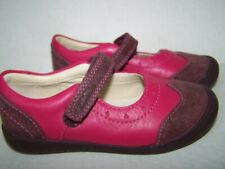 CLARKS Lil Girls 7M My First Shoes Hot Pink 2-Tone Mary Janes hook n loop strap