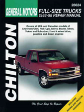 Chilton Workshop Manual GMC Sierra Blazer Tahoe Yukon Suburban 1988-1998 Service