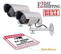 2 Camaras De Seguridad falso Para Casas,CCTV Vision Nocturna Sistema Vigilancia