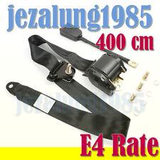 4M Car 3 point Seat Belt Kit Lap Universal diagonal Retractable inertia ECE R16
