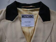 MOSCHINO made in italy veste jaune pâle & noir FEMININE HAUTE COUTURE it 42 F 38