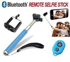 Soportes palo selfie color principal azul para teléfonos móviles y PDAs