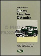Land Rover 90 110 Defender Repair Shop Manual 1983 1984 1985 1986 1987 1988-1992