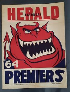 1964 Melbourne Demons Original Premiership Weg Poster