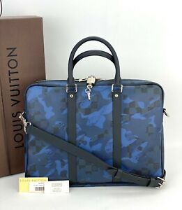 Louis Vuitton Porte-Documents Voyage PM Briefcase Damier Colbart Camouflage A516