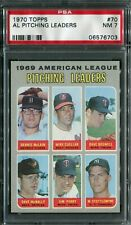 1970 Topps #64 A.L Pitching Ldrs. PSA 7 NM
