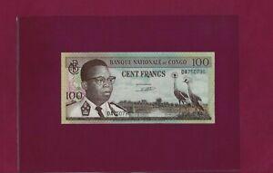 Congo Democratic Republic 100 FRANCS 1962 P-6 AU - ZAIRE