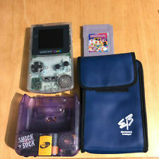Nintendo Gameboy Color Console Clear + Carry Case & Game