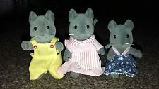 Sylvanian families thistlethorn grey mouse mice family