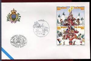 "32788) SAN MARINO 1998 FDC ""Uff. San Marino"" Christmas"