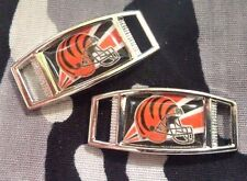 Set Of 2 Cincinnati Bengals NFL Shoelace Charms For Paracord Projects