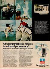1974 ORIGINAL VINTAGE CHRYSLER MARINE OUTBOARD MOTOR BOAT MAGAZINE AD