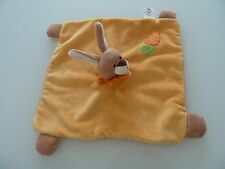 26- DOUDOU PLAT SOFT FRIENDS LGRI LAPIN JAUNE ORANGE CAROTTE - EXCELLENT ETAT
