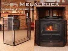 FIRE SCREEN / GUARD SHIELD / FIRESCREEN / BLACK IRON 3 PANEL (Melaleuca) 3 Panel
