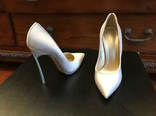 Authentic Casadei White Stain pumps with blade heel size 38.5U