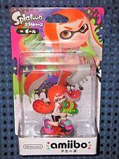 NEW Nintendo Switch amiibo Splatoon 2 Inkling Girl Original Color Wii U JAPAN FS