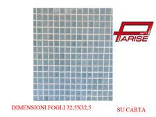Mosaico pasta di vetro su carta rivestimento ceramica celeste chiaro 1,05mq 10pz