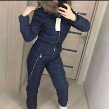Womens Winter Warm Ski Suit Waterproof Jumpsuit Snow Suit Outdoor Sport Romper