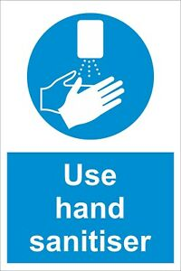 Sanitise Hands - A4 / A5 Social Distancing  - 19Covid - Rigid Sign / Sticker