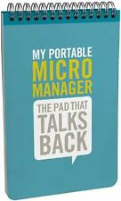 Knock Knock Portable Spiral Memo Pad, Micromanager Personality (11201)