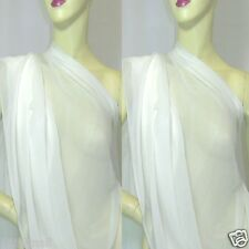 4 yards  Off White  Pure Silk Georgette Chiffon Fabric 140cm#off White for Dress
