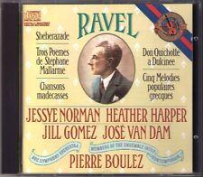 Pierre Boulez: Ravel Sheherazade Don Chisciotte Jessye Norman CD Heather Harper