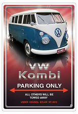 VW KOMBI  CAR PARKING SIGN