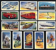 CIGARETTE/TRADE/CARDS. Ewbanks.TRANSPORT THROUGH THE AGES. (Blue). (Set).(1957).