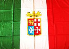 BANDIERA MARINA MILITARE ITALIANA ITALIA misura grande cm. 100 x 140  FLAG