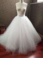Tulle Ball Gown Bridal Skirt Bridal Train Skirt Wedding Skirt Detachable Skirt