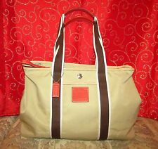 "NEW COACH HAMPTONS WEEKEND REVERSIBLE 6262 NYLON TOTE BAG W SIDE SNAPS 11""HX16""L"