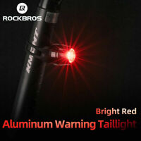 ROCKBROS Bicycle Front Led USB Rechargeable Red Light Rainproof Warning Light