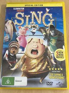 Sing (DVD, 2016) Region 4 Special Edition Family Movie
