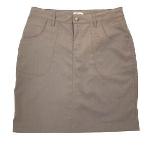 Frilufts Tan Khaki Pencil Skirt Women's Size 34