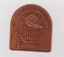 1989 National Scout Jamboree leather patch Boy Scouts of America BSA