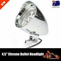 """Chrome Aluminum Bullet 4.5"""" Headlight For Yamaha VStar 400 650 1100 1300"""